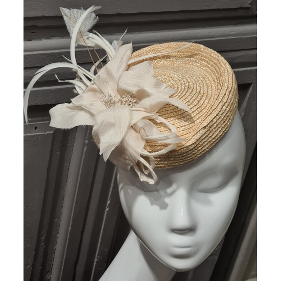 Sewn Straw fascinator by...