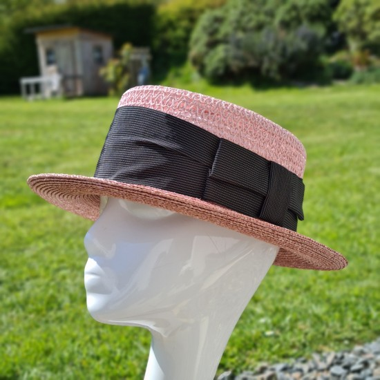 Pink Boater Hat by Grévi