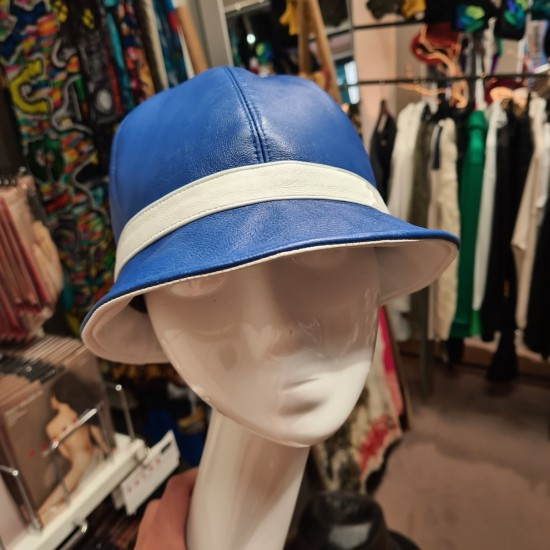 Blue Leather Bell Hat IL...